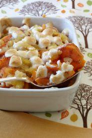 Brown Sugar-Glazed Sweet Potatoes with Marshmallows #pineapplecasserole