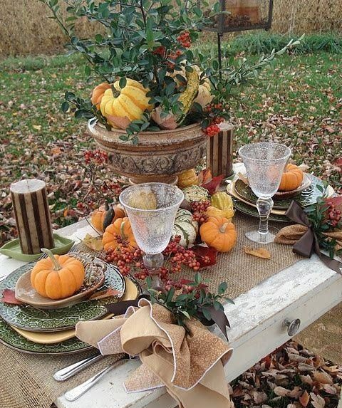 rustic thanksgiving table decor this entry is part of 21