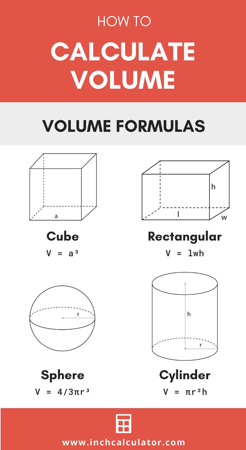 Volume Calculator Volume Formulas Inch Calculator Studying Math Math Lessons Math Tricks [ 1461 x 800 Pixel ]