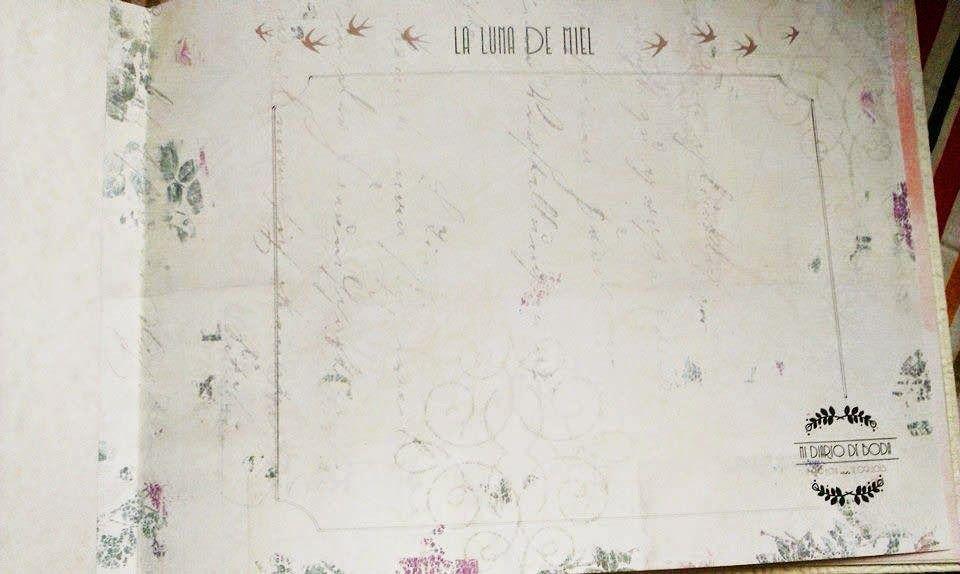 """Interior de """"Mi diario de Boda"""" lleno de detalles personalizados"""