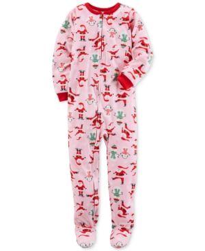 5d5b43919e5d Carter s 1-Pc. Santa-Print Footed Pajamas