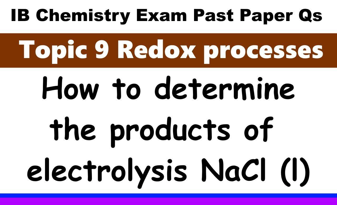 Ib chemistry chemistry exam papers