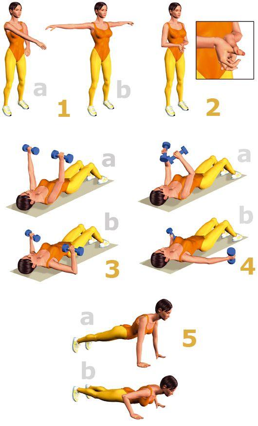 Ejercicios para adelgazar espalda y busto