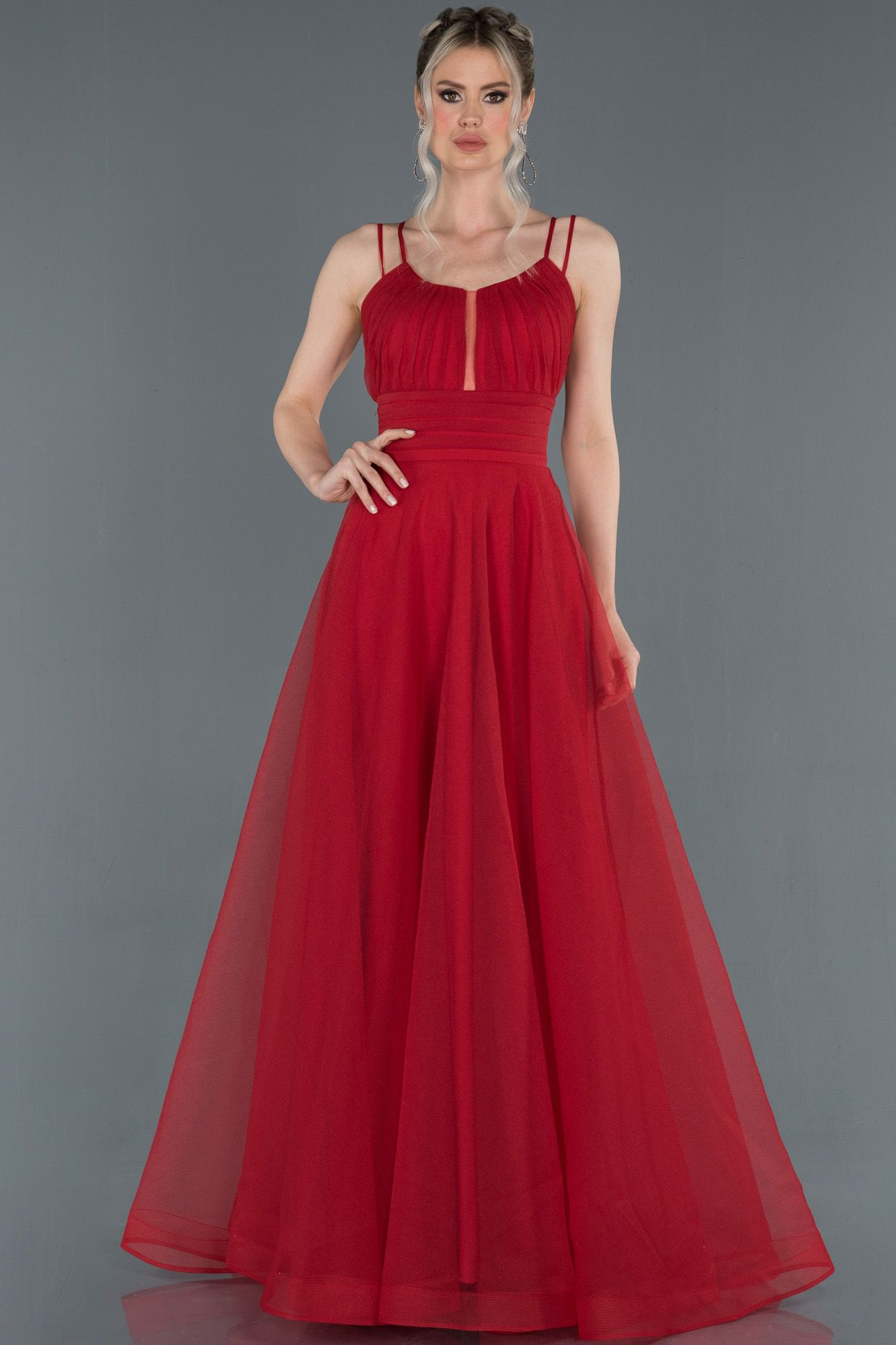 Kirmizi Ip Askili Sirt Dekolteli Abiye Elbise Abu1208 2020 Elbise Modelleri The Dress Elbise
