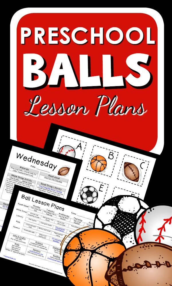 Balls Theme Preschool Lesson Plans with hands-on ...