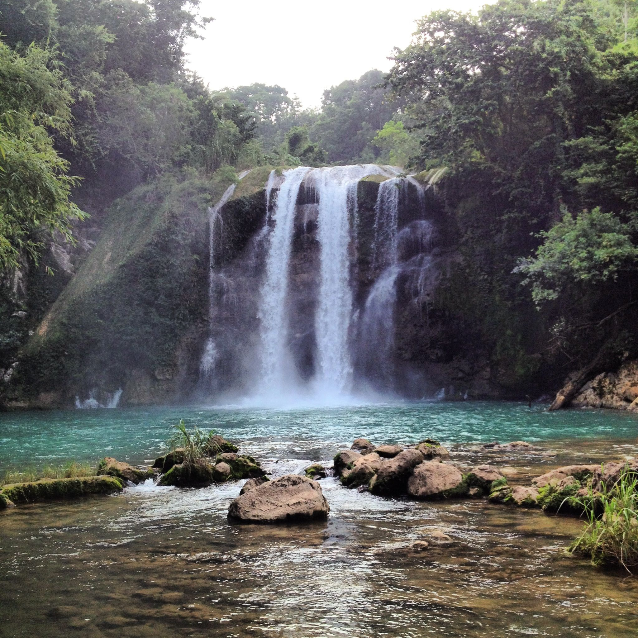 Saut Mathurine Waterfall In The South Of Haiti ( Les Cayes