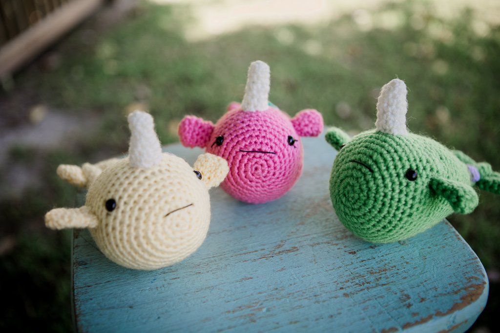 Amigurumi Narwhal with Ice Cream Cone | Crochet crafts, Kawaii ... | 683x1024