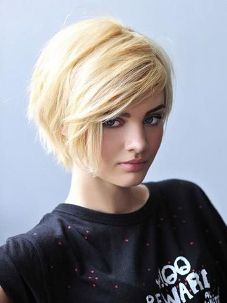 Short Hairstyle if it were short around the other side