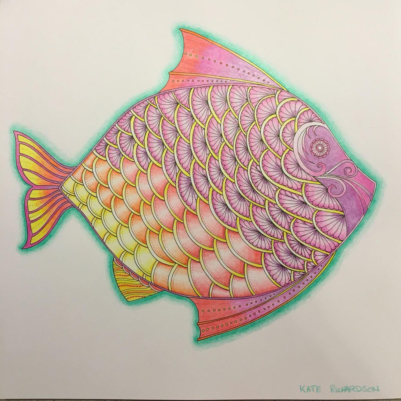 Johanna Basford Lost Ocean Colored By K Richardson Kt Mac32