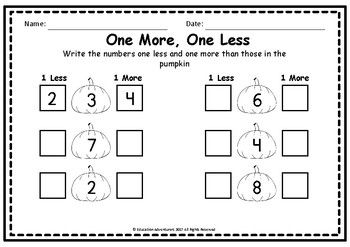 Pumpkin Trace, Write and Count Worksheet Set, Numbers 1 - 20 ...