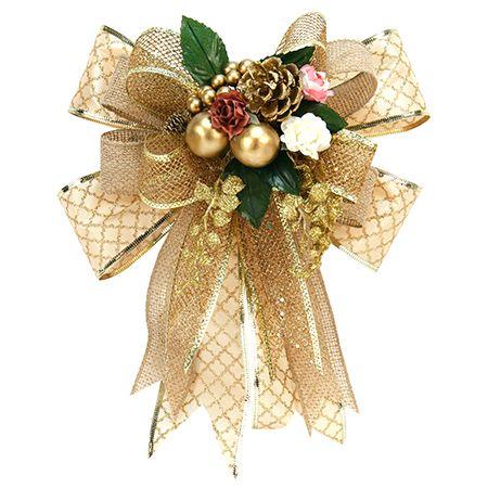 Proyectos mo o navidad vintage oro yute y pi as adornos for Monos navidenos