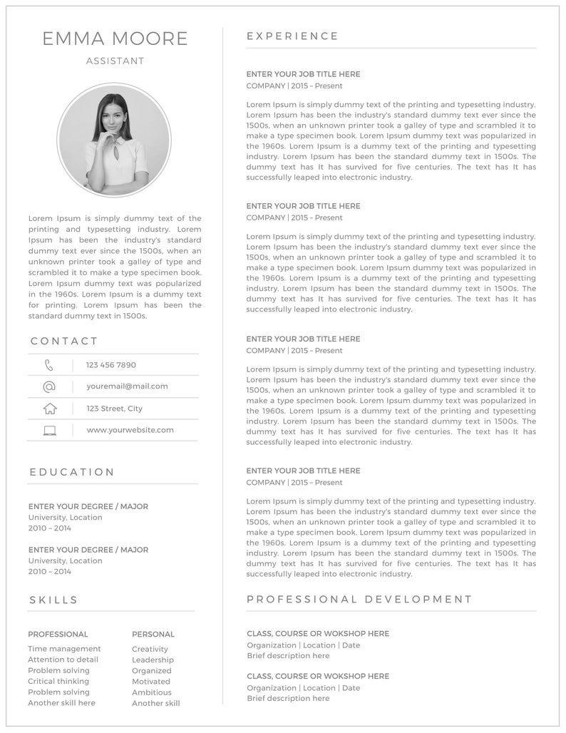 Functional Resume Template Google Docs