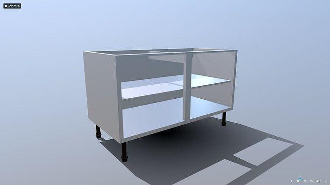 Best Kitchen Unit Carcass 3D Model With Images Modern 400 x 300