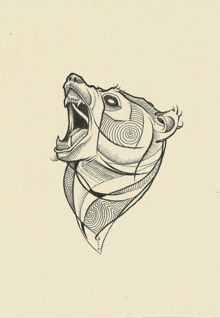 bear tattoo sketch