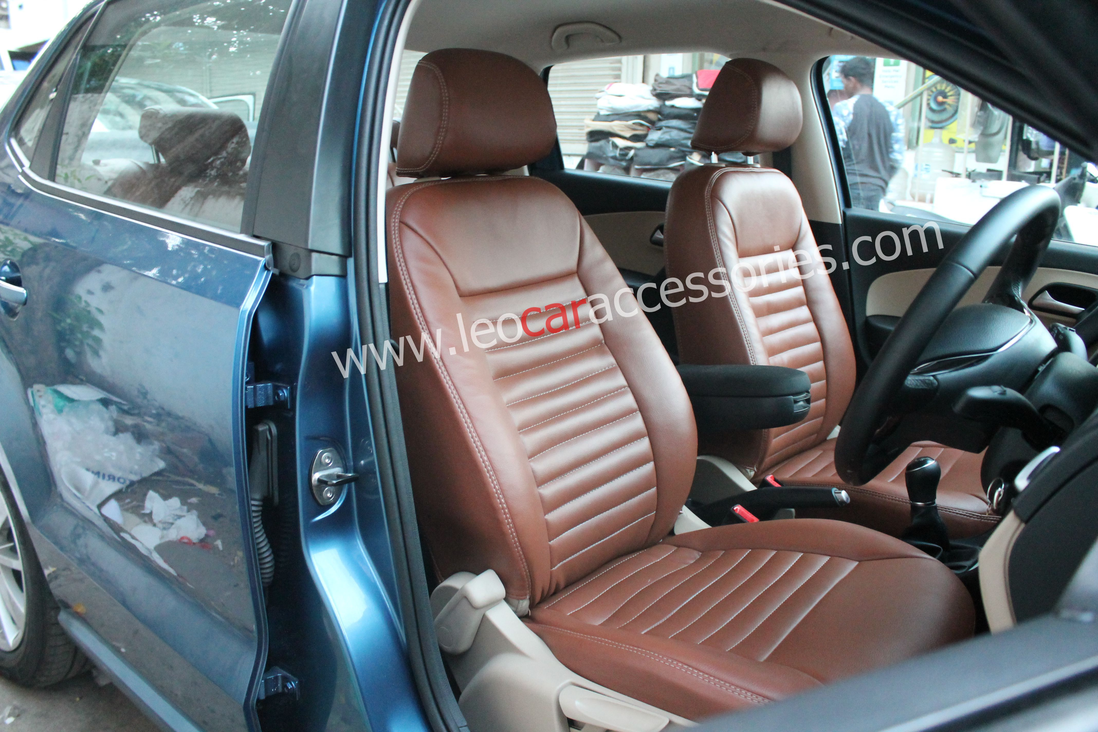 Volkswagen Ameo Costomfit Seat Cover Installed At Leo Car