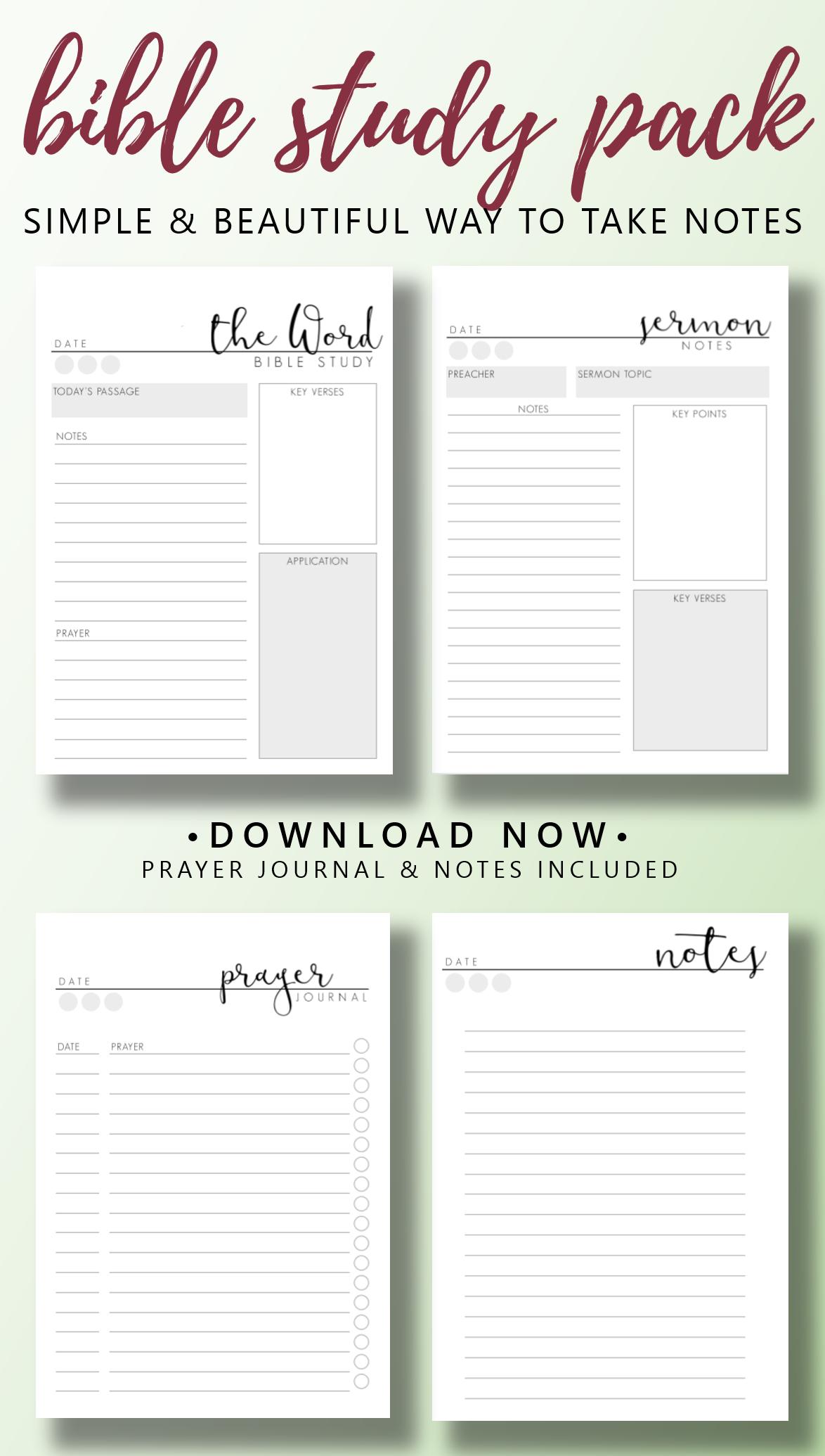 Sermon Notes Printable