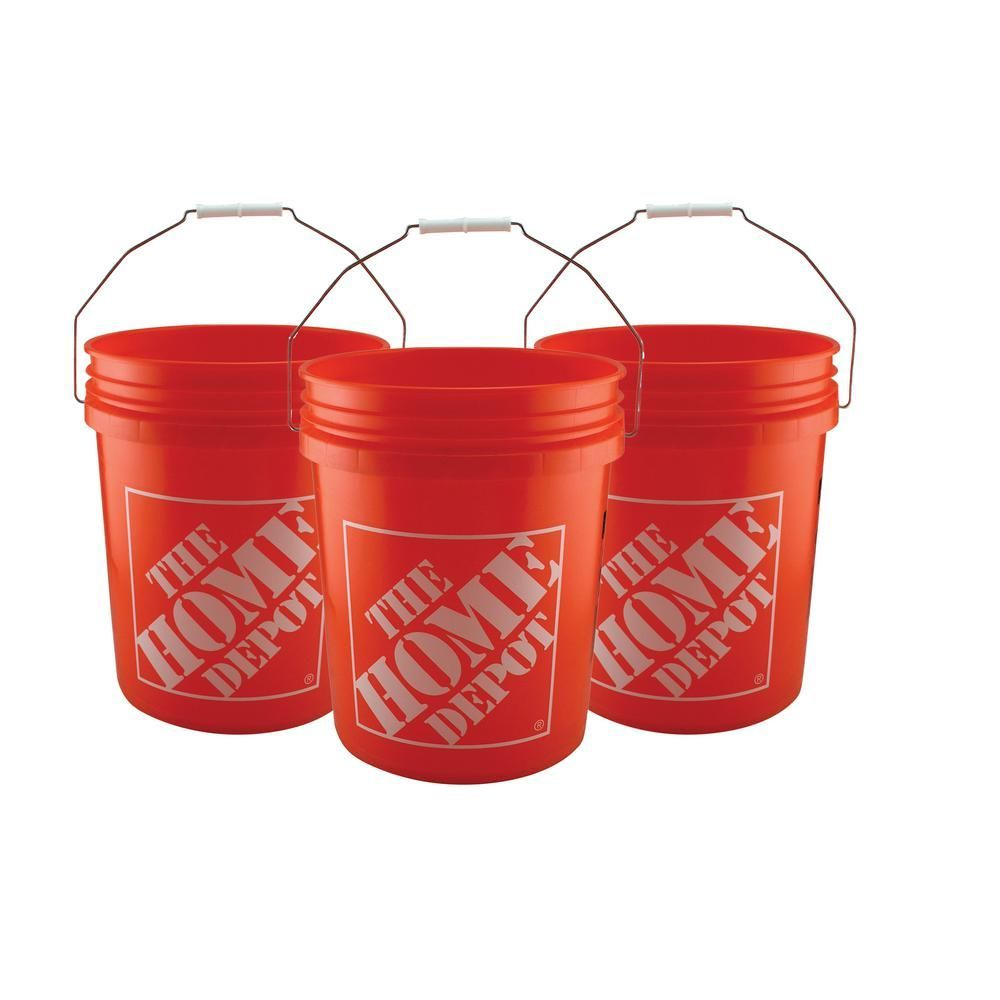 The Home Depot 5 Gal Homer Bucket 50 Pack In 2020 Limewash Plastic Buckets Lime Paint