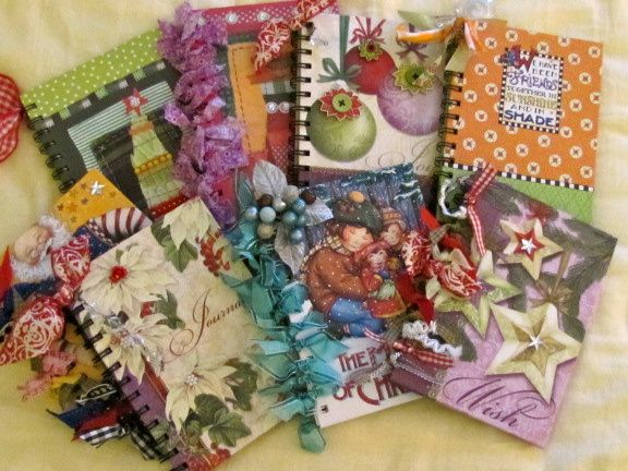 "Embellished Christmas ""to do list"" notebooks..."