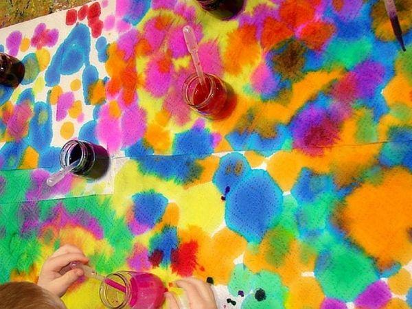 Acquerelli Bambini ~ Giocare con il contagocce e gli acquerelli idee di gioco e stimolo