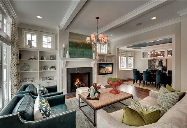 Living And Dining Room Combo That Open Together Rarely Do They Flow This Well Together Great Living Room Furniture Layout Family Room Living Room Designs