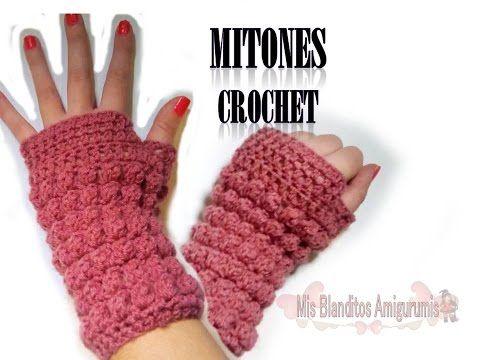 Tutorial crochet: Mitones (guantes sin dedos) Paso a paso | Guantes ...
