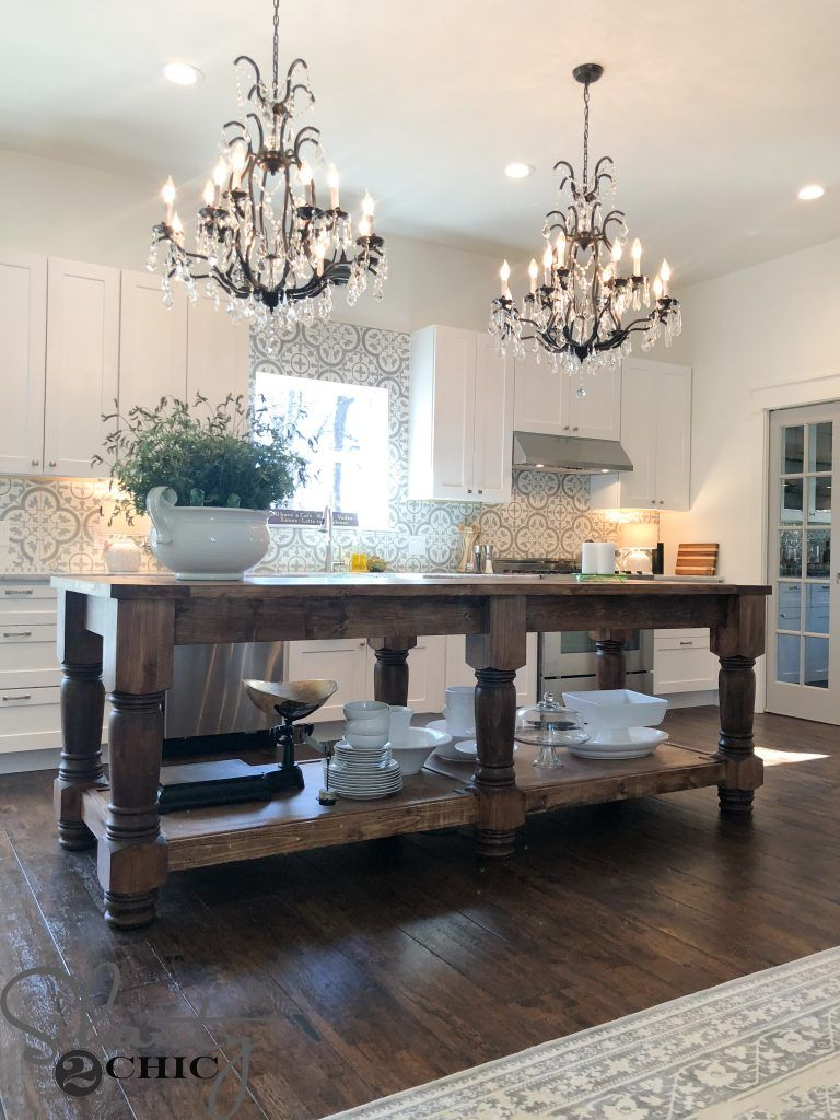Diy rustic farmhouse island projects pinterest kitchen diy