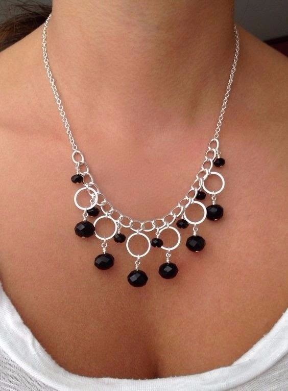 Photo of How to Make Silver Necklace with Circle Components – Jewelry Making + Tutorial .