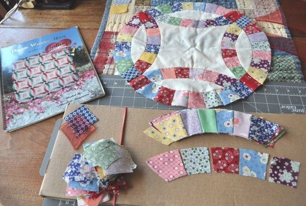 Easy Double Wedding Ring Quilt Pattern Quilts Pinterest