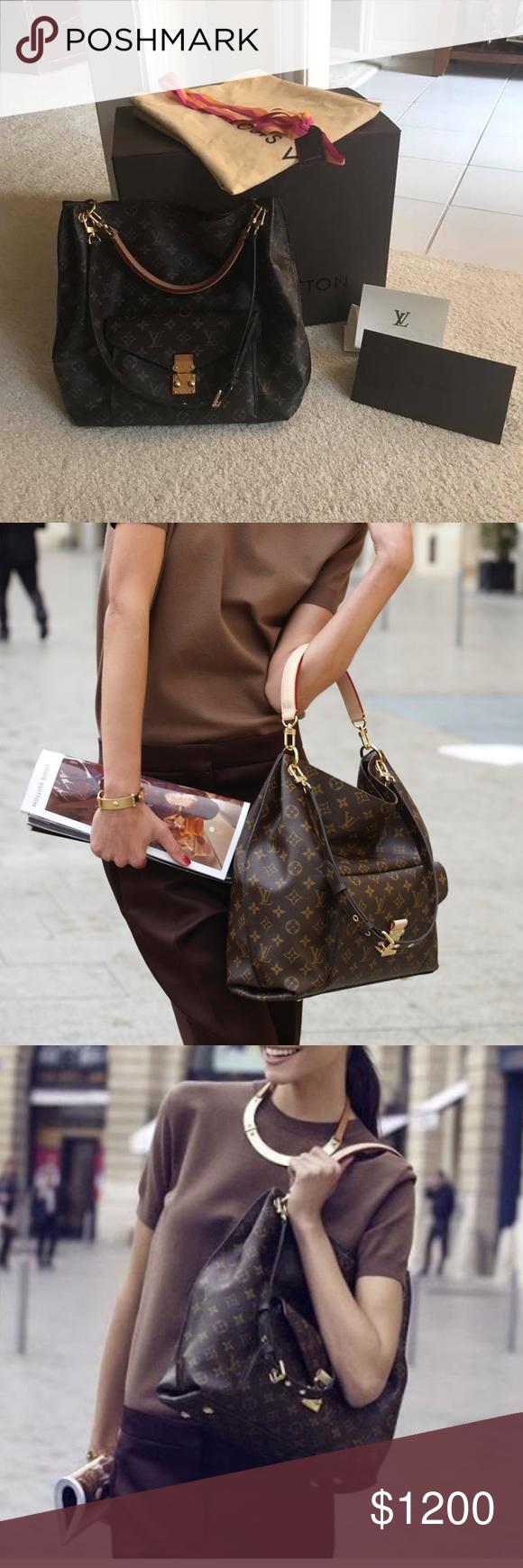 f74eea6887d7 Spotted while shopping on Poshmark  Louis Vuitton Metis Hobo!  poshmark   fashion  shopping  style  Louis Vuitton  Handbags