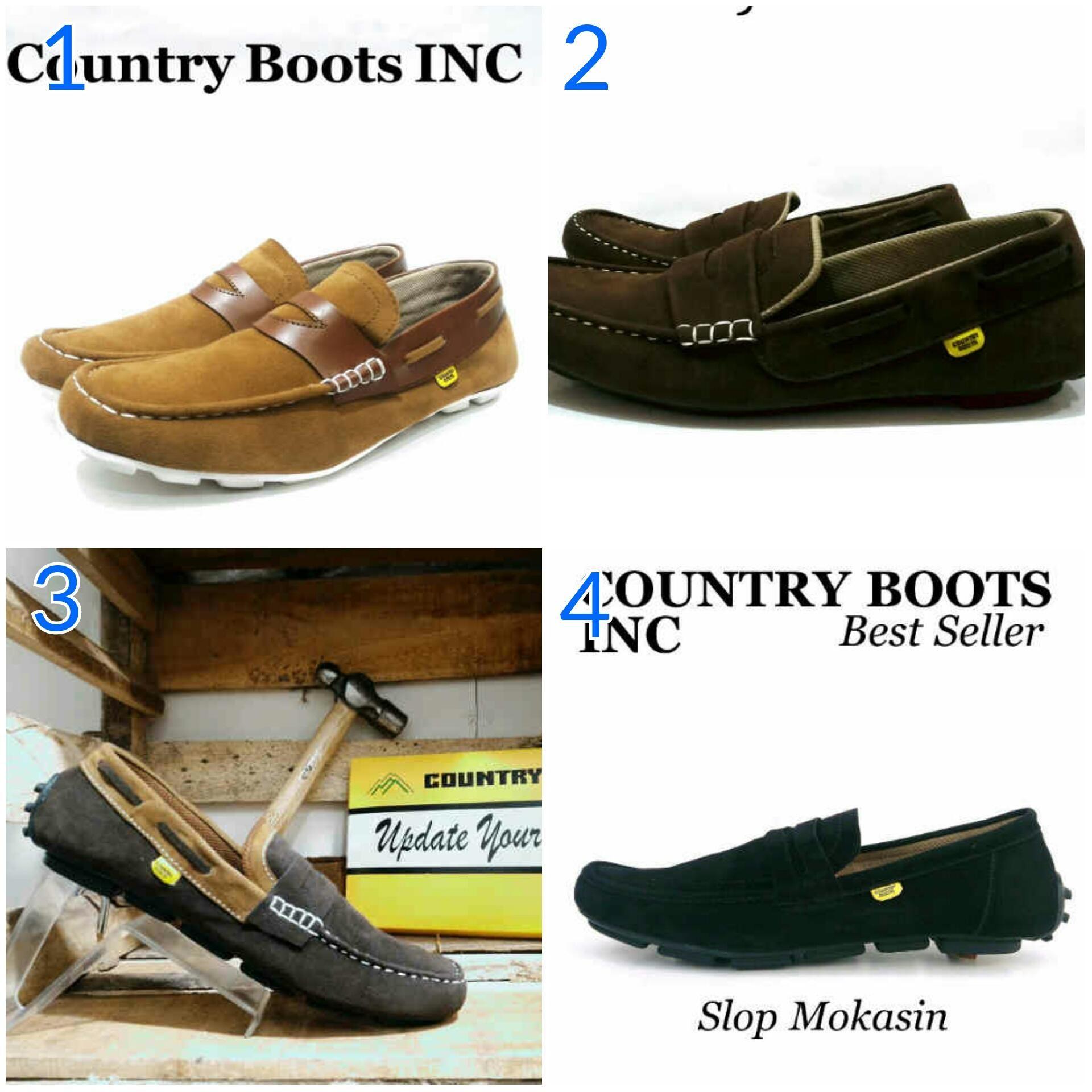 Promo Sepatu Country Boots Slop Mokasin Original Sepatu Pria