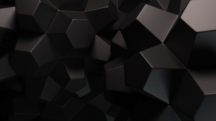 Abstract Black Shapes Wallpapers Black Background Wallpaper