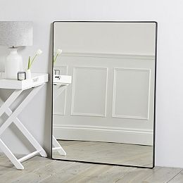 Buy Chiltern Thin Metal Rectangular Mirror - from The White Company