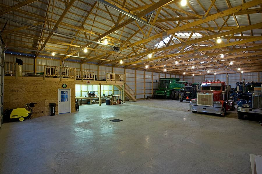 Pole Barn Storage Building With Skylight