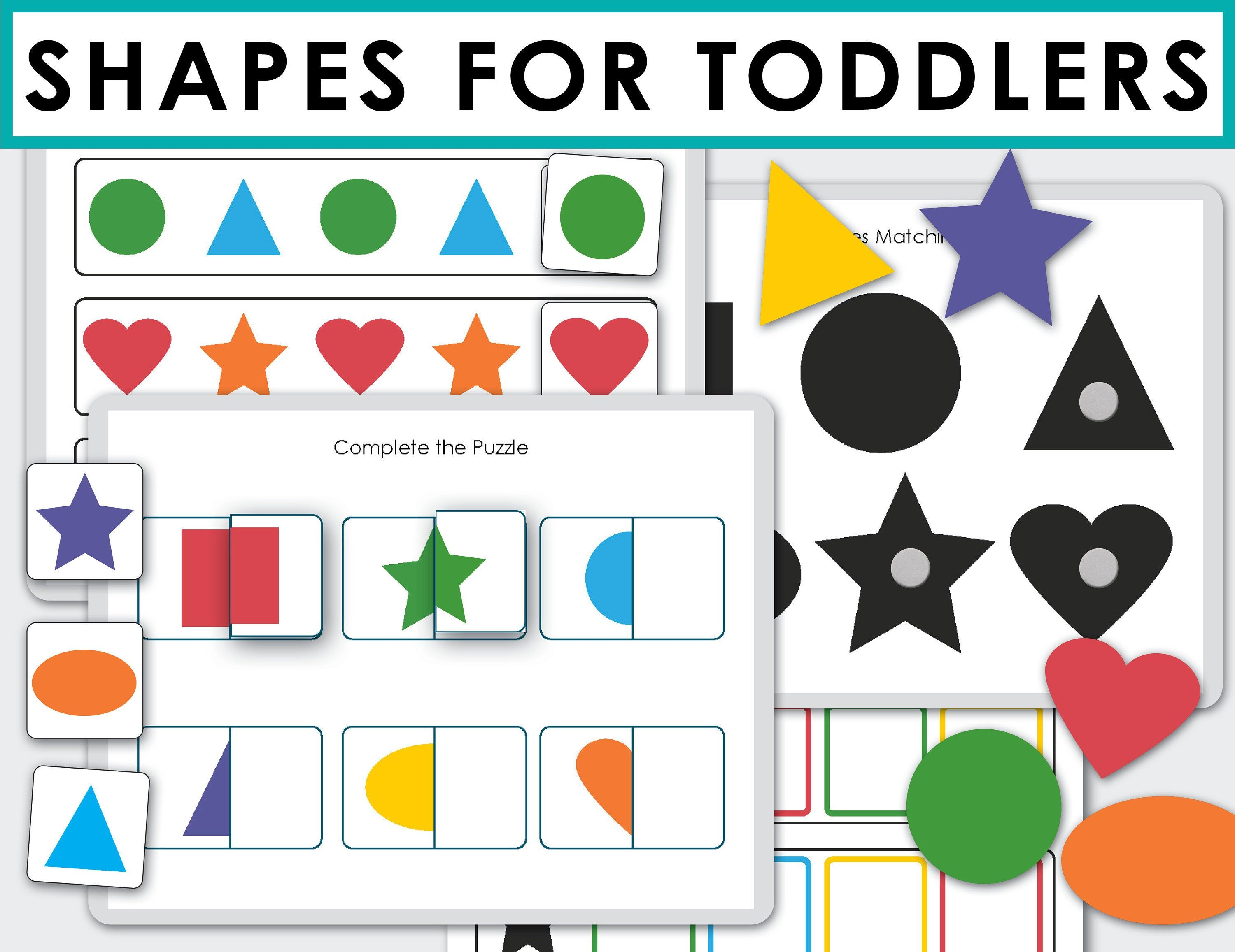 Shapes And Color Matching Activity Shape Match Printable Worksheets File Folder Game For Toddler Preschool Busy Book Color Sorting Activities Busy Toddler [ 2314 x 3000 Pixel ]