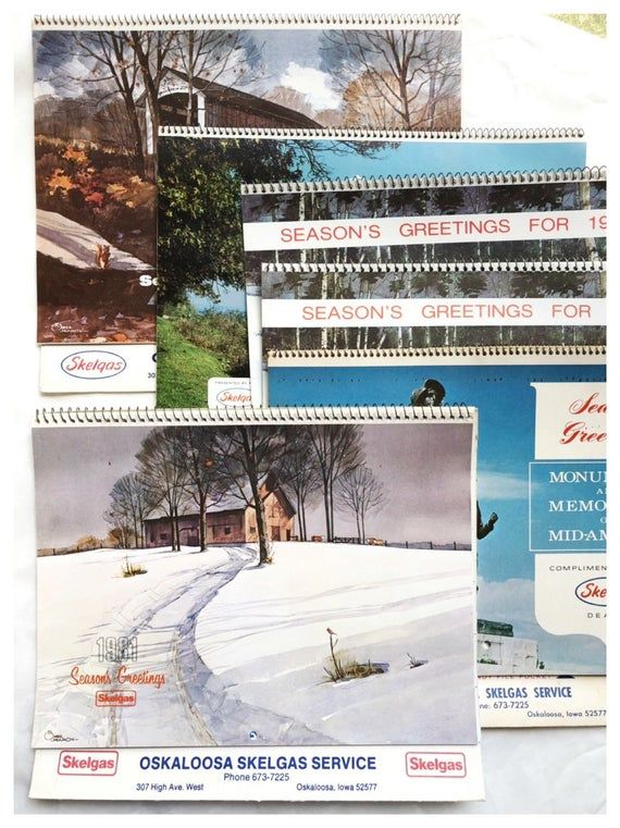 13 Month Calendars 1980s Calendars Old Business Calendars Wall
