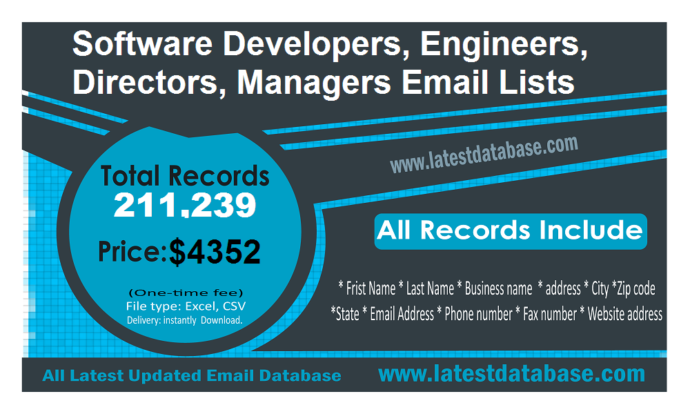 Softwaremanagersemaillists Software Managers Email Lists Help You