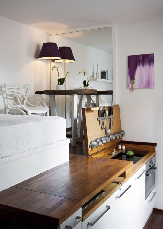 Sweet Sixteen Stylish Space Saving Details For A Tiny