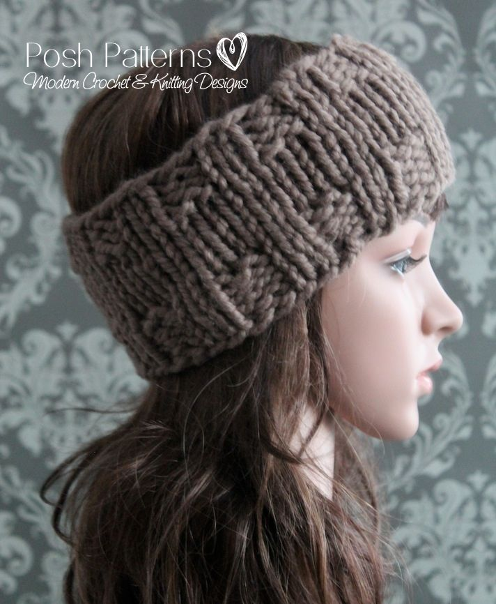 Headband Knitting Pattern Knit Ear Warmer Pattern Knit Headband