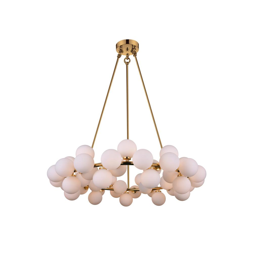 Cwi lighting arya 45 light satin gold chandelier