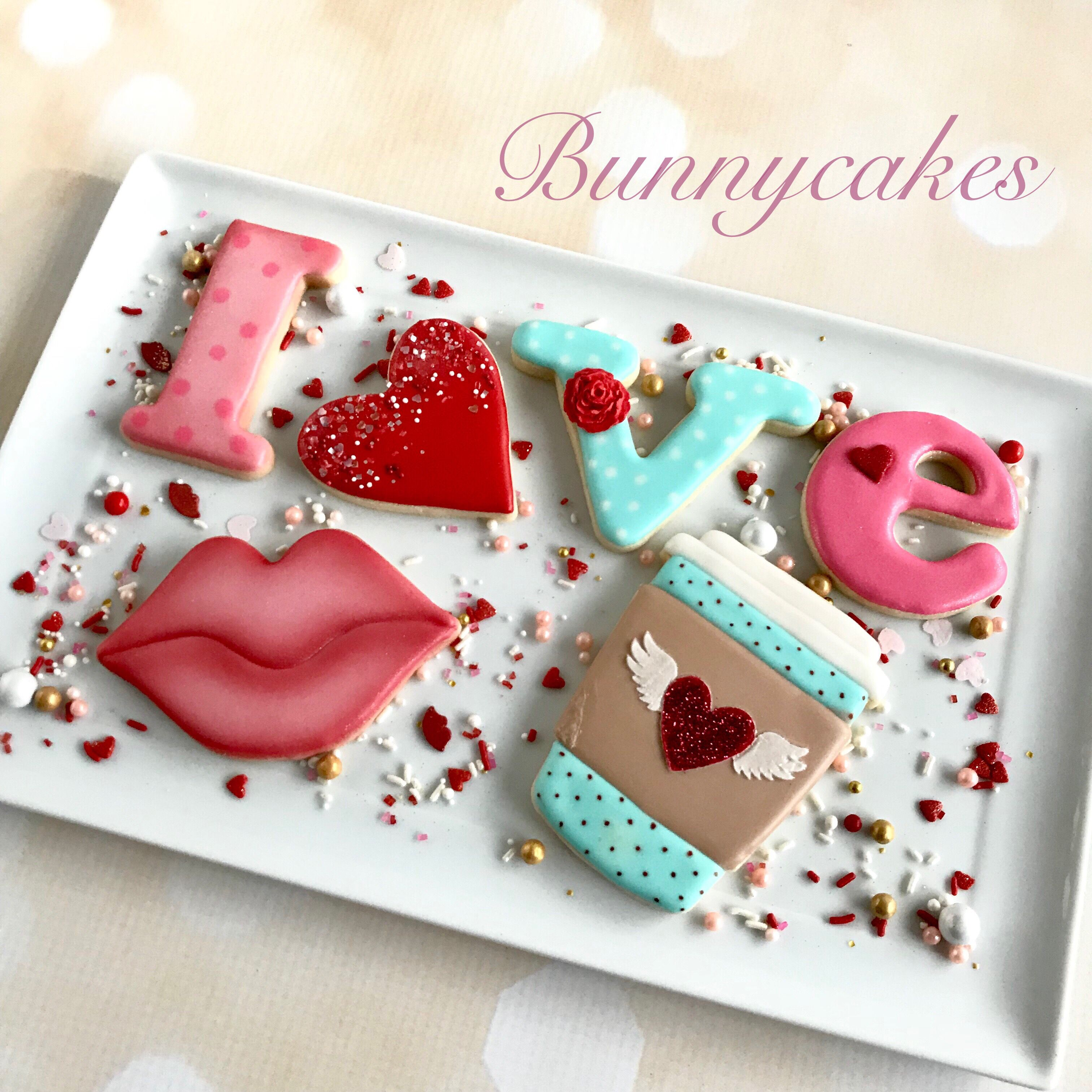 """Valentine's Day Sugar Cookie Class """"Love You A Latte"""" By"""