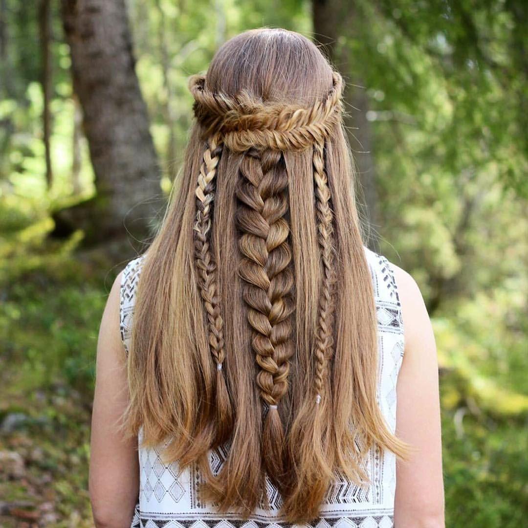 Half up hairstyle inspired by aurorabraids prettyhairstyleess