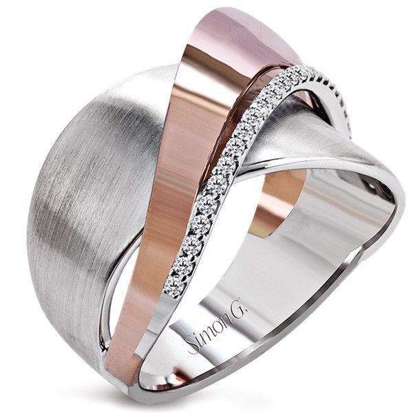 Rose and White Gold Swish Around Diamonds in this Simon G. Design from Ben Garelick Jewelers. http://ss1.us/a/YpLB1DDT