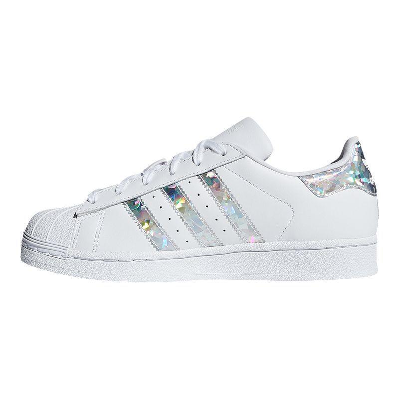 adidas Girls' Superstar Shoes White in 2019 | Superstars