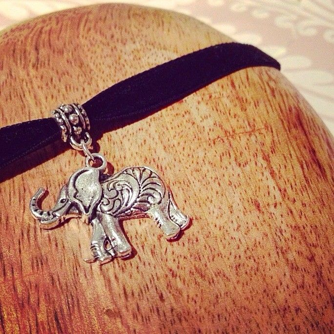 Antique indian elephant choker via AngaarA . Click on the image to see more!