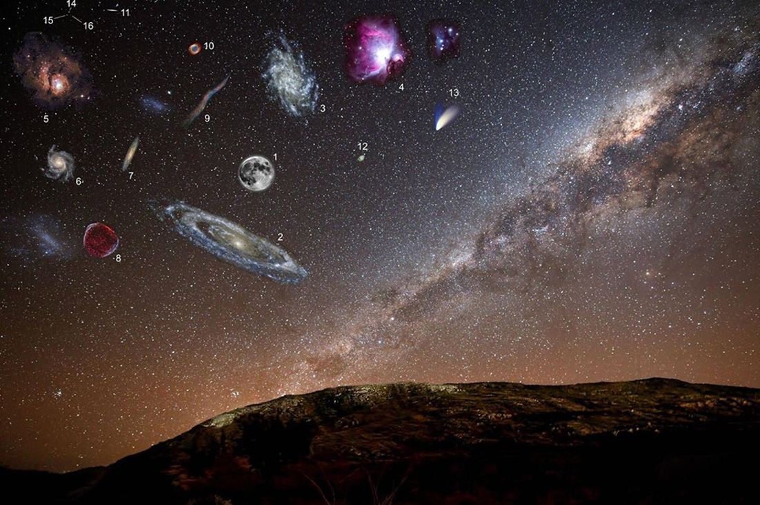 Deep Space Objects via stargazerslounge: How they would appear in our sky if they were brighter. #Space #Astronomy #Night_Sky