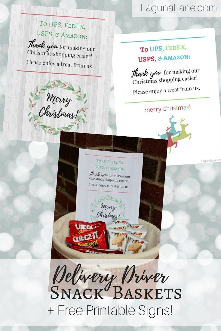 Delivery Driver Snacks + Free Printable Thank You Signs | Laguna ...