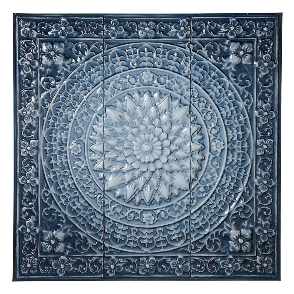 Ombre Blue Medallion Metal Wall Sculpture Square Panel Decor Art 30 5 Unbranded Tuscan Wallplaque Blue Wall Art Floral Wall Decor Medallion Wall Decor