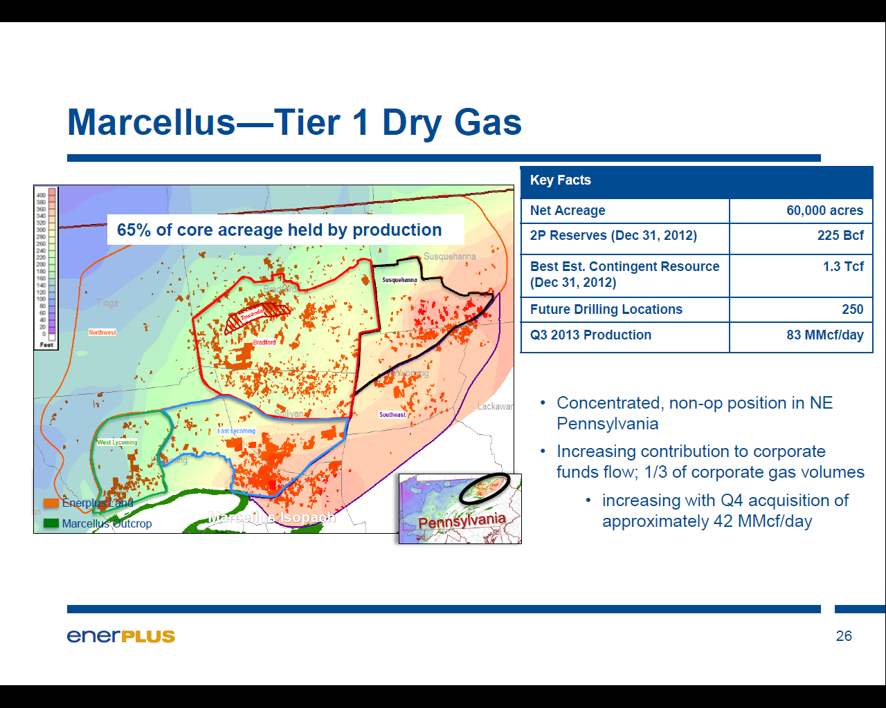 Canadian Driller Enerplus Marcellus Shale Stats