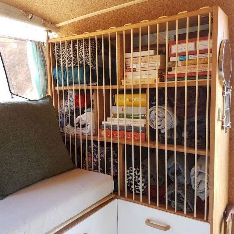 93 Smart Design Rv Camper Storage Ideas Van Storage Caravan Hacks Camper Interior Design