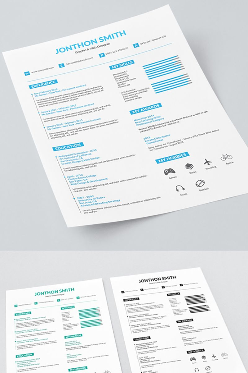 Graphic and Web Designer Resume Template 71565 Web